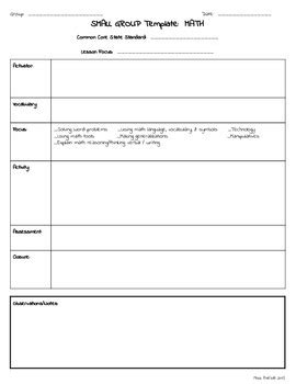 small group rti special education lesson plan