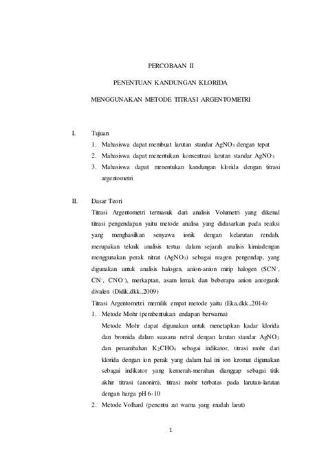 laporan praktikum membuat gunung berapi laporan praktikum titrasi argentometri doc