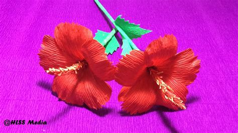 hibiscus paper flower tutorial how to make diy hibiscus crepe paper flower tutorials