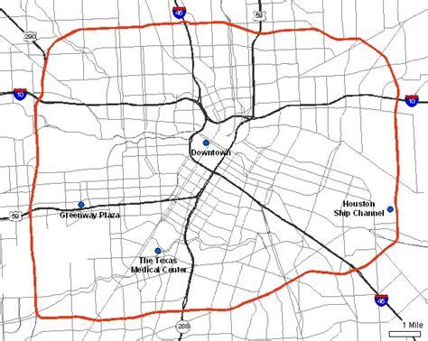 houston map inside 610 loop 610
