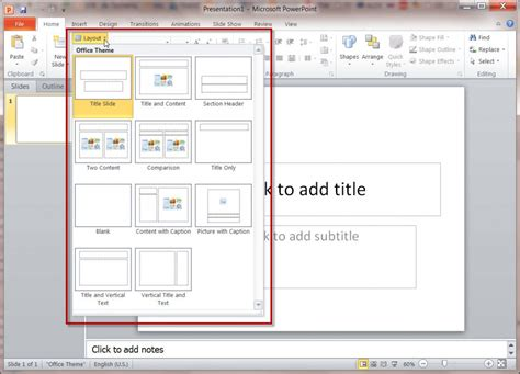 section header layout powerpoint 2010 how master slides work in a ms powerpoint 2010