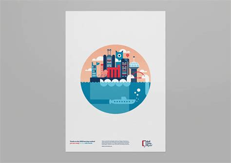 graphics design language wall street english caign posters by luca fontana and