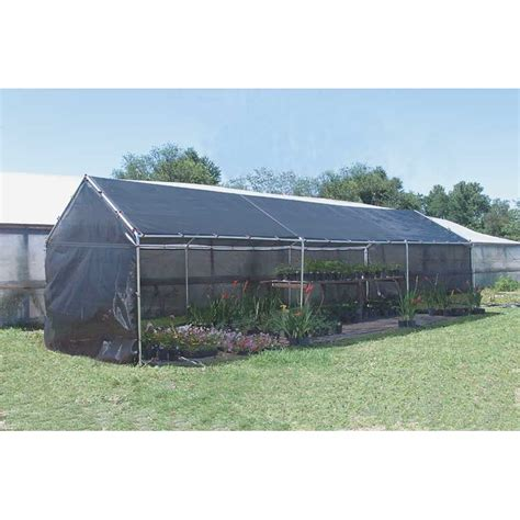 l shade frame supplies sunblocker backyard shade house 80 10 w x 10 l growers