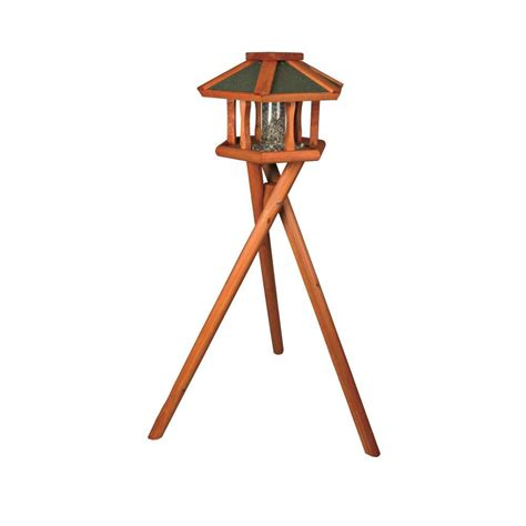 trixie deluxe wooden bird feeder gazebo with stand 5573