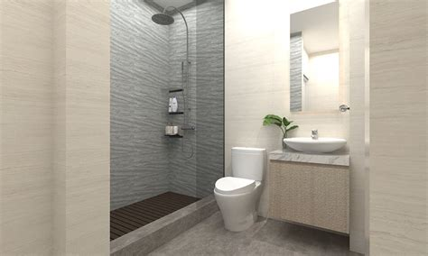 inspirasi desain kamar mandi minimalis kecil sederhana