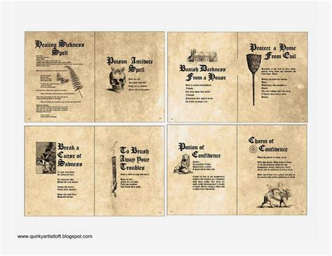 printable picture book harry potter printable spell books book covers
