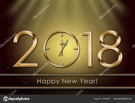 new year stock images happy new year 2018 new year clock stock photo