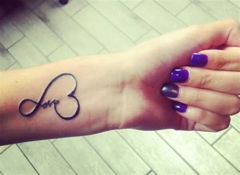 girl infinity tattoo infinity love tattoo on girl s wrist tattooshunter com