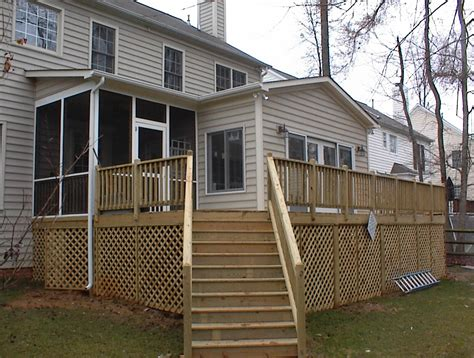wraparound deck sunroom with wrap around deck