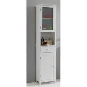 sweden1 free standing bathroom cabinet in white