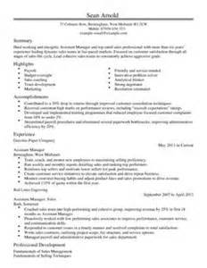 assistant manager cv template sales cv examples livecareer
