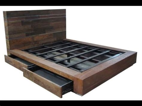 how to make a mattress diy bed frame youtube