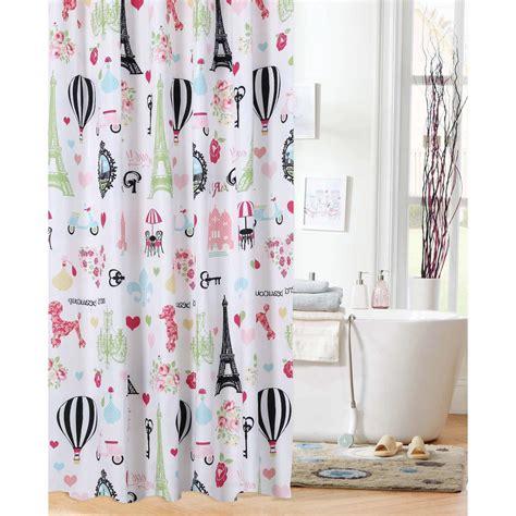paris shower curtain walmart mainstays kids i love paris shower curtain walmart com
