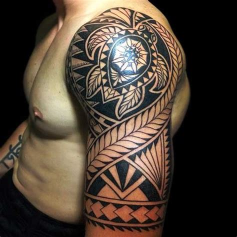 tribal half sleeve tattoos meanings pacific island style ta moko moko sleeve