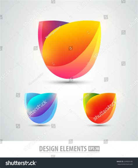 colorful logo design elements vector set vector design elements colorful logo design stock vector