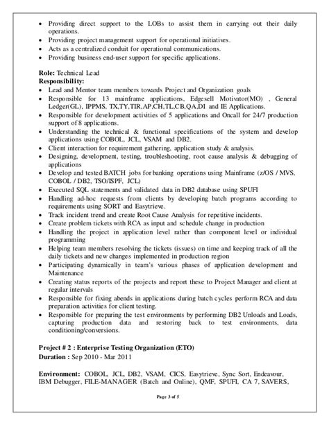 Mainframe Developer Cover Letter by Mainframe Developer Resume Exles Resume Ideas