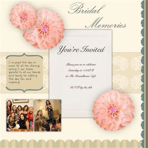 Scrapbooking Wedding Invitation Ideas by Scrapbook Ideas For Bridal Shower Invitations Lovetoknow