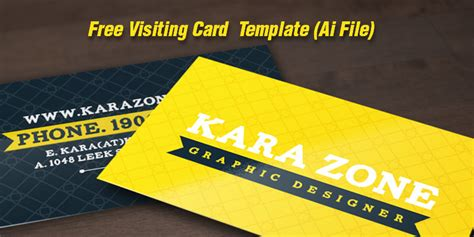 Visit Card Template Ai by Graphic Design Archives Page 6 Of 7 A Graphic World