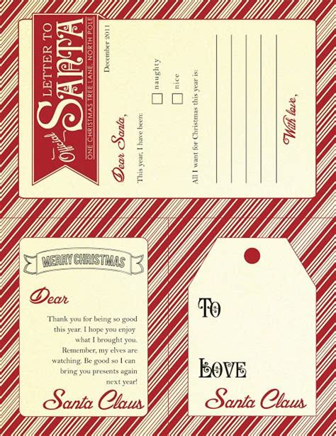 printable letter gift tags from santa gift tags and more printables pinterest
