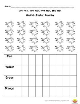 printable goldfish graph give each child a handful of goldfish have them color the