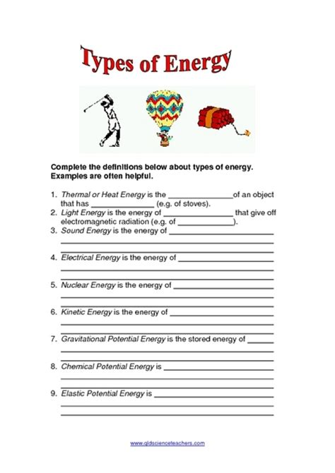 Energy Resources Worksheet by Forms Of Energy Worksheet Lesupercoin Printables Worksheets