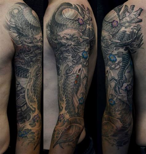 black tattoo healing and turning grey 1235208 785547184835367 7604534890315057662 n koi fish
