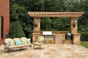 Patio Kitchen Ideas Splashy Kamado Joe In Patio Traditional With Outdoor
