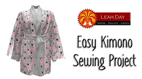 kimono pattern youtube easy kimono sewing project with sprout patterns youtube