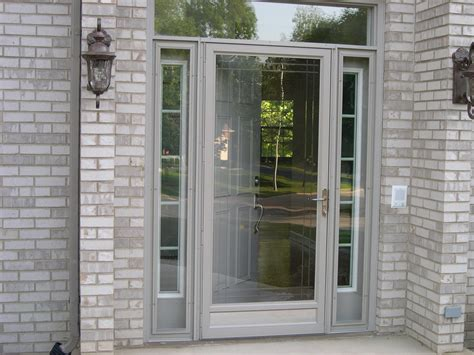 Glass Door House Exterior Faux Brick Panels With Glass Doors Home