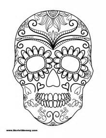 sugar skull coloring page free coloring pages