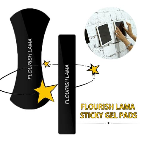 Original Flourish Lama Nano Rubber Gel Pads And Holder anti slip flourish lama nano rubber sticky gel pad strong
