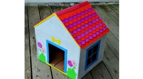 how to make dog house at home how to make a doghouse from recycled cardboard green diary green revolution guide