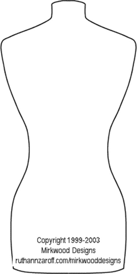 mannequin template mirkwood designs dressmaker s mannequin template