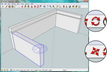 layout sketchup rotate draw accurately with google sketchup