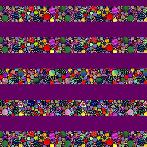 stripes profusion circles violet red fabric paysmage