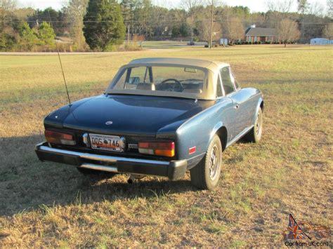 1980 fiat spider convertible 1980 fiat 124 spider 2000 convertible 2 door