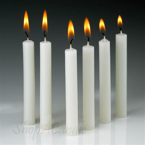 Dinner Table Lighting by White Taper Candles Buy 4 Inch Non Drip Candles At