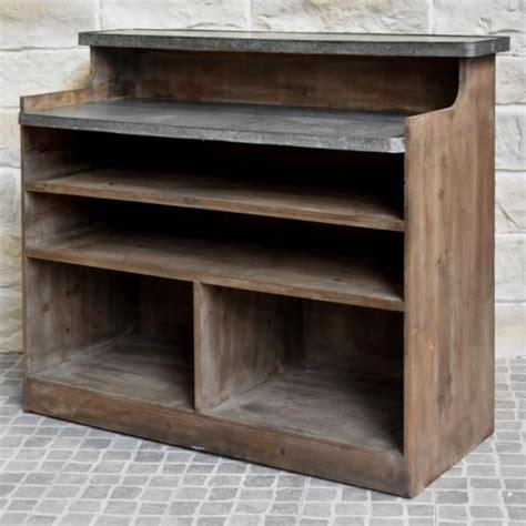 vente comptoir bar ancien comptoir bar style ancien bois zinc 125 50 cm achat