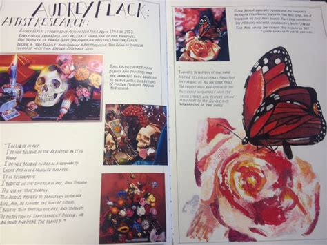 page layout artist definition page 13 audrey flack artist research copy identity