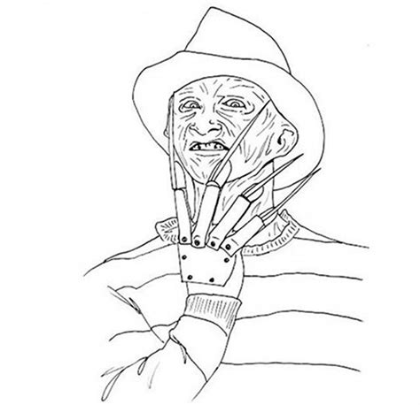 Freddy Krueger Coloring Pages freddy krueger coloring pages coloring home