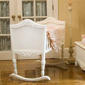 Antique White Baby Crib Antique White Cradle And Luxury Baby Cribs In Baby Furniture Bassinets And Cradles At Poshtots