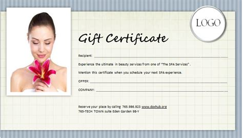 Spa Gift Card Singapore - spa gift certificate template gift ftempo