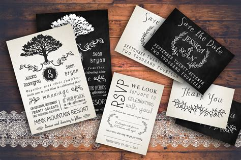 rustic wedding invitations templates 28 images rustic wedding invitation pack invitation templates on