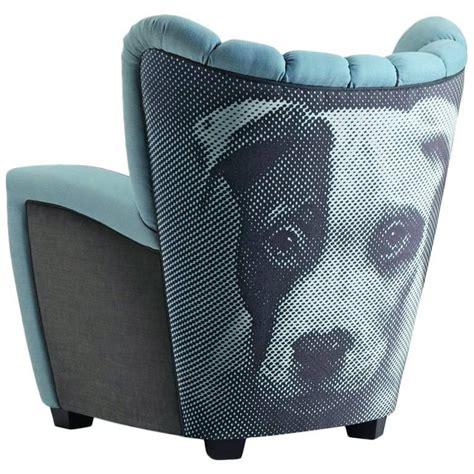 printed fabric armchairs quot la mia zarina quot custom printed linen fabric armchair by