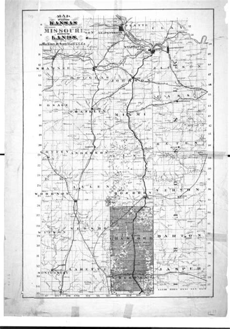 missouri border map map of eastern kansas border counties in missouri