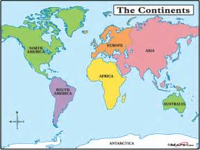 maps101 world the continents