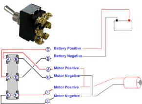 connecting a 6 terminal toggle switch to a 12volt dc motor or dc actuator