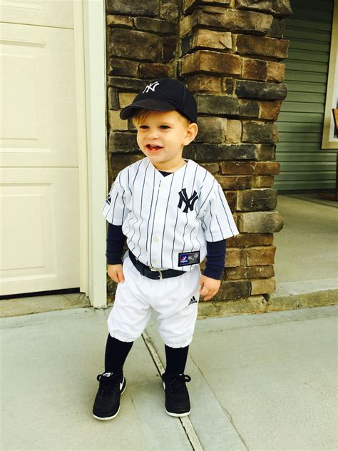 cole david  halloween costume toddler baseball player