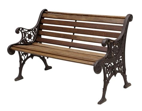 wood and cast iron bench vintage cast iron wood garden bench