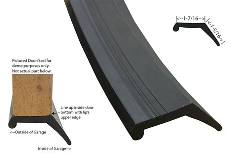Lill Overhead Doors Ddm Garage Doors Parts Bottom Astragal Contact Solid Syn Rubber For Up To 1 3 8 Quot Thick